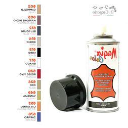 Tintura vernice spray per capi in pelle e similpelle scarpe